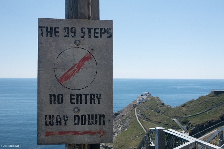 99 steps down to mizen head