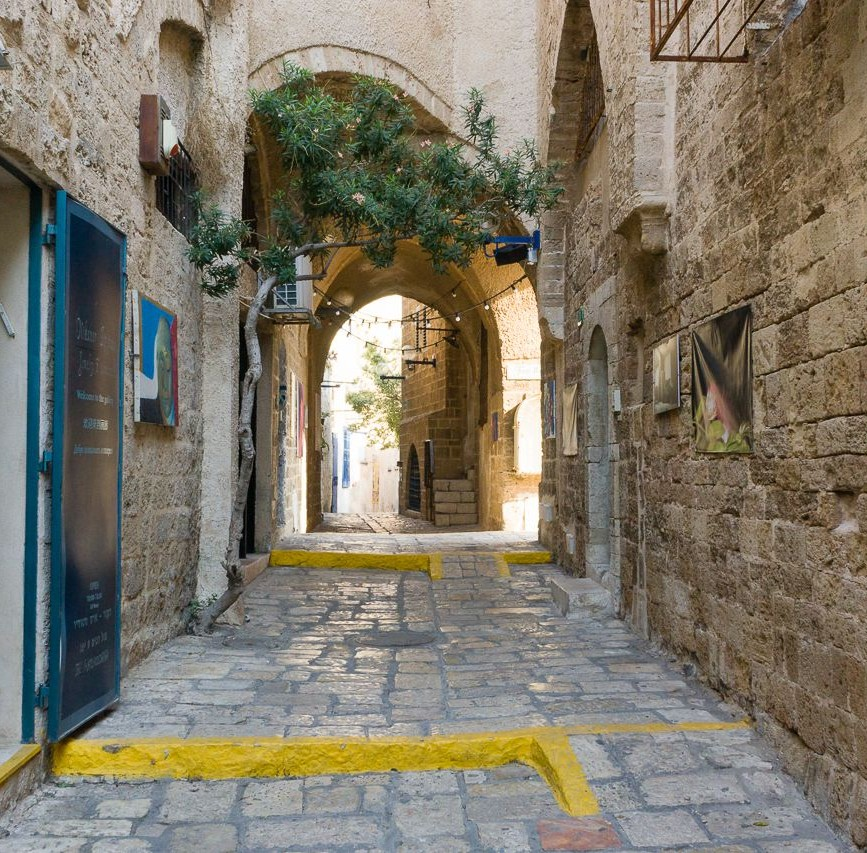 Narrow street in Jaffa / Tel Aviv-Yafo