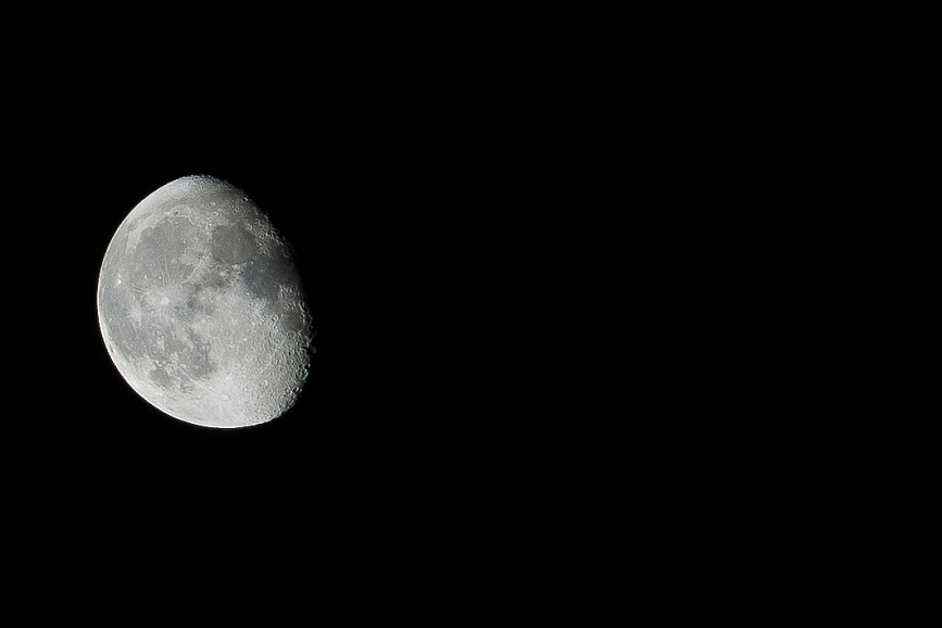 The moon taken with Sony A7