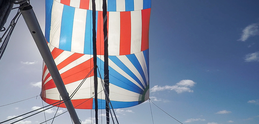 Spinnaker on Jade - Prout Snowgoose 35