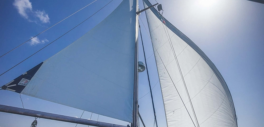 Prout Snowgoose sails in action