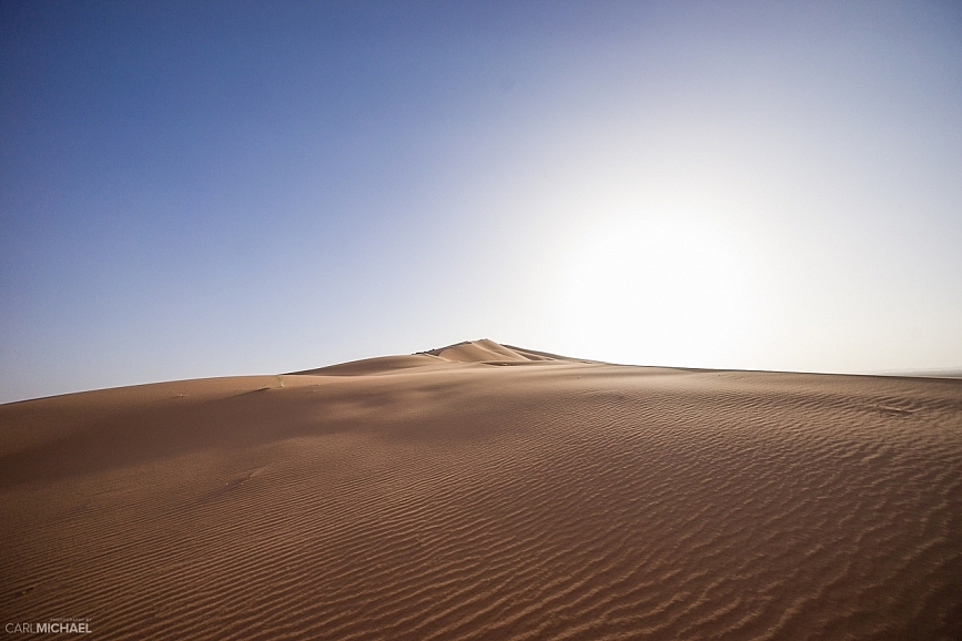 Huge sand dune morocco