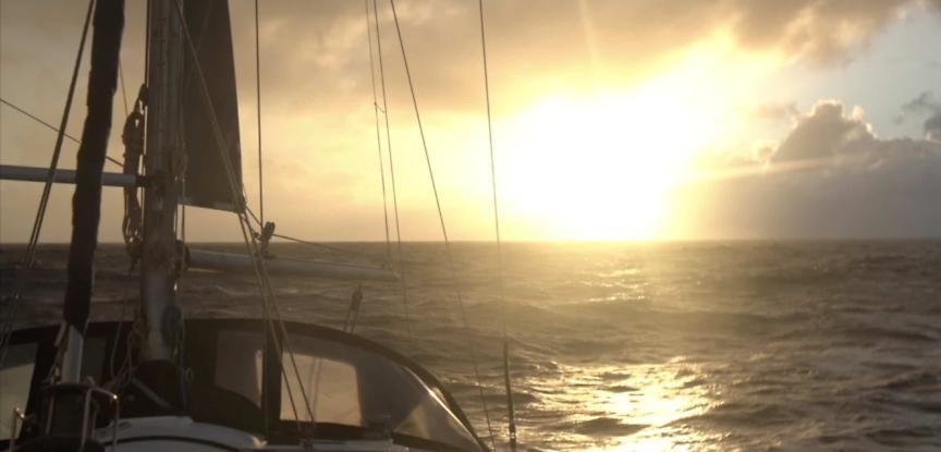 Prout Snowgoose Catamaran in Atlantic Ocean
